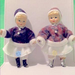 Vintage collectable porcelain dolls